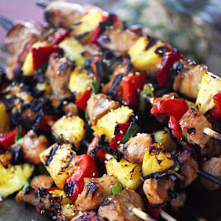 Hawaiian Pineapple Chicken Kabobs