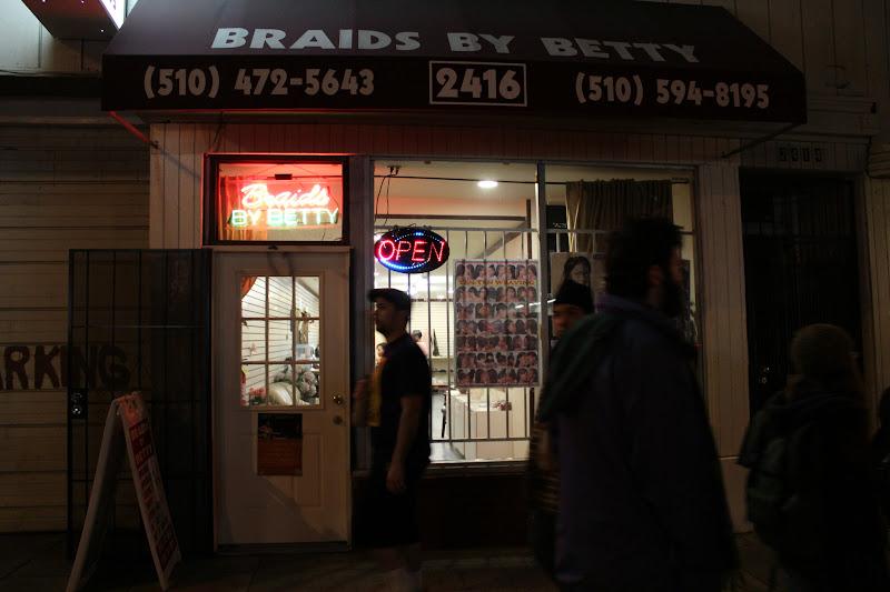 Photo: Braids by Betty braiding hair during Art Murmur. http://www.yelp.com/biz/braids-by-betty-oakland