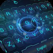 Blue Dazzle Technology Keyboard Theme