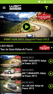WRC – application officielle Capture d'écran