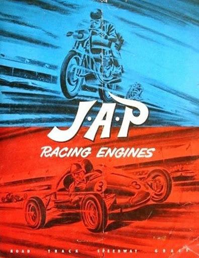 Brochure publicitaire pour les moteurs de courses JAP.