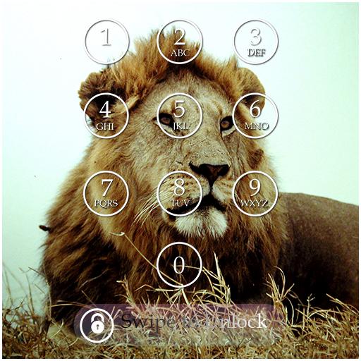 Lion Keypad Screen Lock Theme
