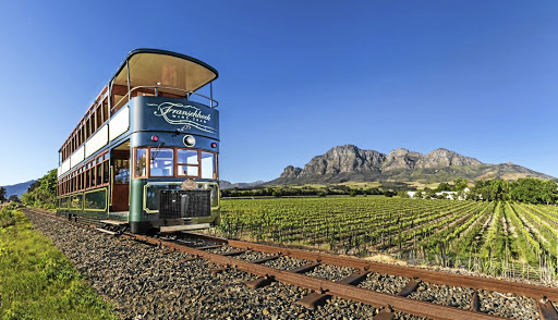 The new double-decker en route near Franschhoek.