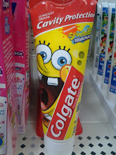Photo: I knew one of the other boys love Spongebob so I bought him the Colgate toothpaste and Spongebob toothbrushes!