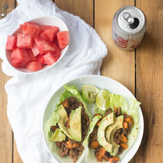 Chili Lime Beef & Sweet Potato Lettuce Wraps