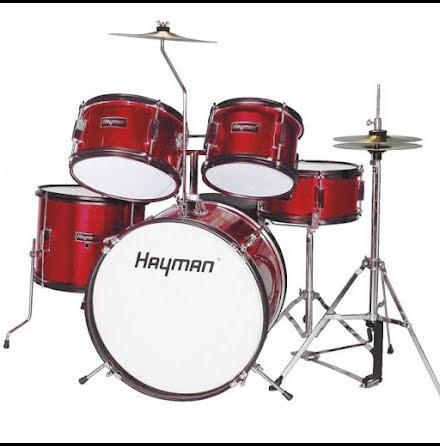Hayman Barntrumset - HM-50-MR - Metallic Red