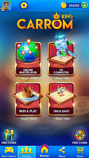 Carrom Kingu2122 - Best Online Carrom Board Pool Game 2.9.0.55 screenshots 1