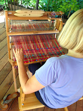 Photo: student Eileen's beautiful weaving
