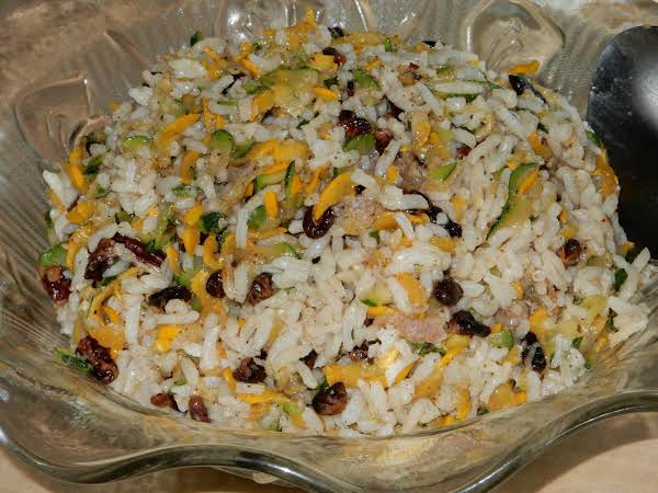Zucchini Rice Salad With Pecans