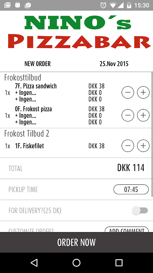 Nino's Pizzabar – Hedehusene- screenshot