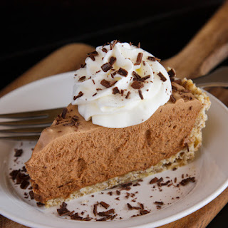Chocolate French Silk Pie with Salted Pecan Crust