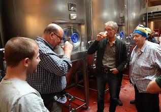 Photo: The creators tasting their collaboration...