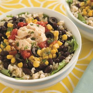 Speedy Chicken Burrito Salad Bowls