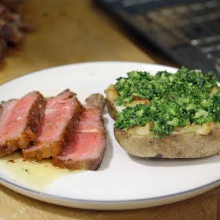 Rib-Eye Steak and Power Potatoes.