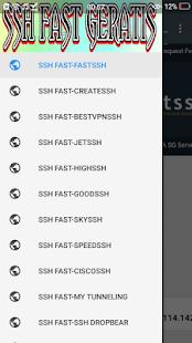 SSH FAST GERATIS - náhled