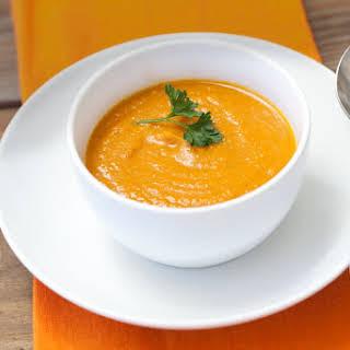 Vegan Pumpkin Coconut Soup.