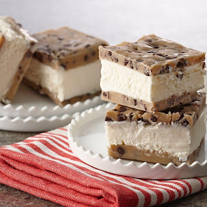 No Bake Cookie Dough Ice Cream Sandwich