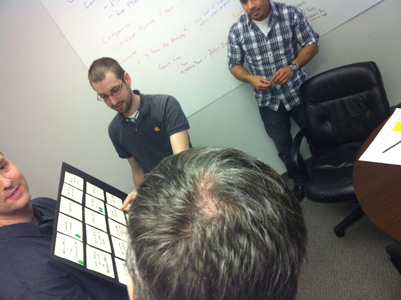 Photo: Getting work done on UX project