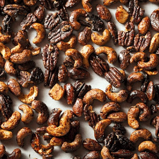 Not-Too-Spicy Glazed Nuts