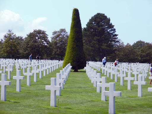 The cemetery at Normandy contains the graves of 9,387 of our brave soldiers.