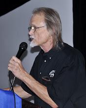 Photo: Preacher Doug works his fundraising magic
