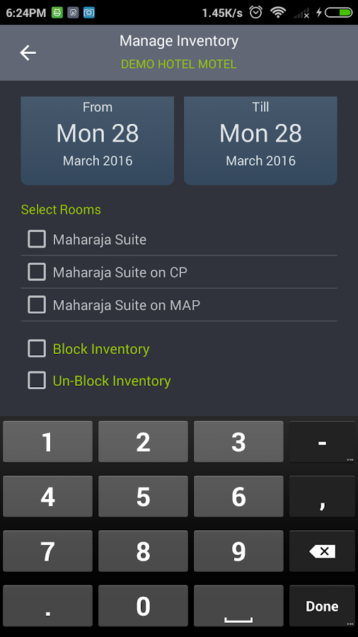 Eglobe Solutions Hotel Admin- screenshot