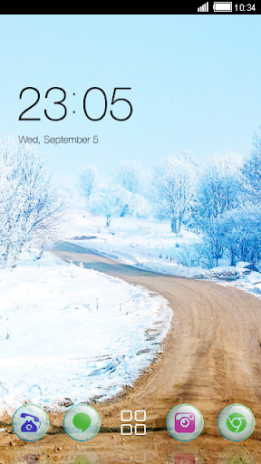 Winter Road CLauncher Theme