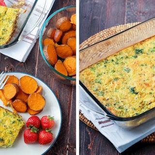 Broccoli and Cauliflower Rice Quiche.