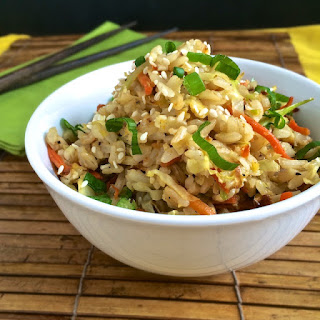Roasted Cabbage & Carrot Fried Rice