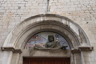 Photo: Le tympan de l'église de Sant Pere.