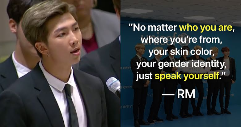 Bts Talks About Speaking Yourself At United Nations General Assembly