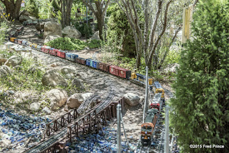 Photo: Even in this snap, you can't see the end of the train in the upper left corner...