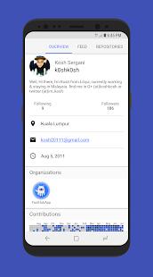 FastHub for GitHub - náhled