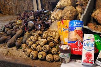 Photo: de winkel in de schuur met uitleg over producten waar Cichorei-wortel in zit