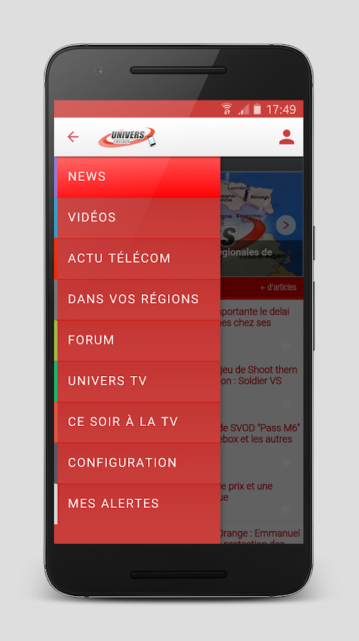 Univers Freebox- screenshot