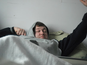 Photo: Daddy sneaks a nap
