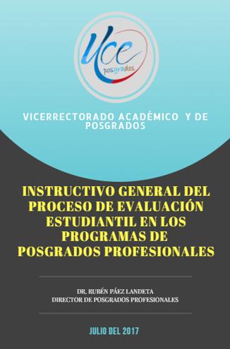 Instructivo Evaluación Estudiantil Programas de Posgrado
