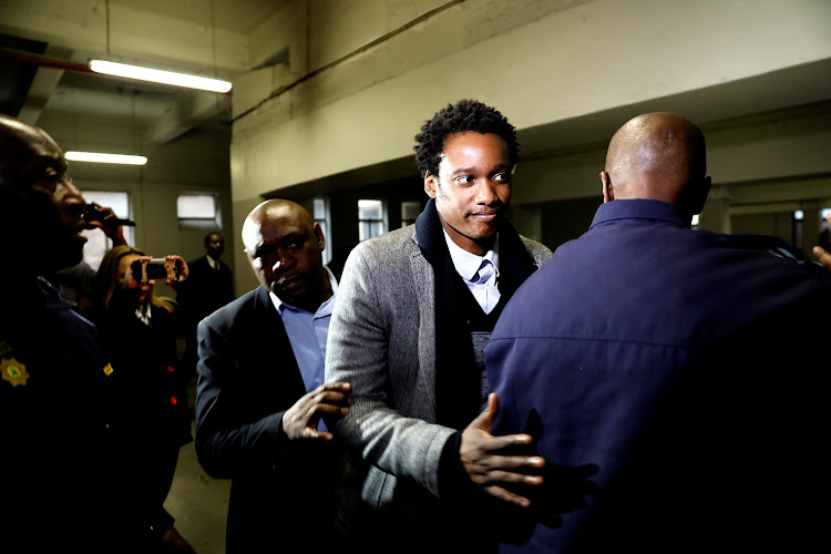 Duduzane Zuma arrives for his appearance at the Specialised Crimes Court in Johannesburg on July 9 2018. Picture: ALON SKUY