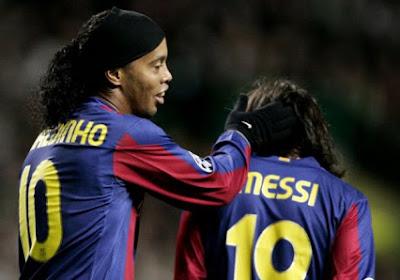 Ronaldinho vindt de vooruitgang die Messi bij Barça boekte ongelooflijk
