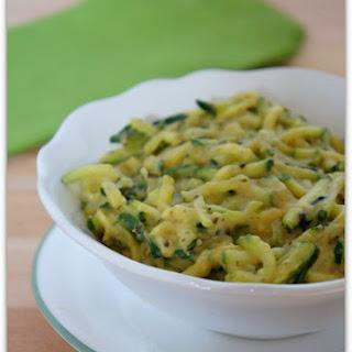 Creamy Basil Pesto Hummus Zucchini.