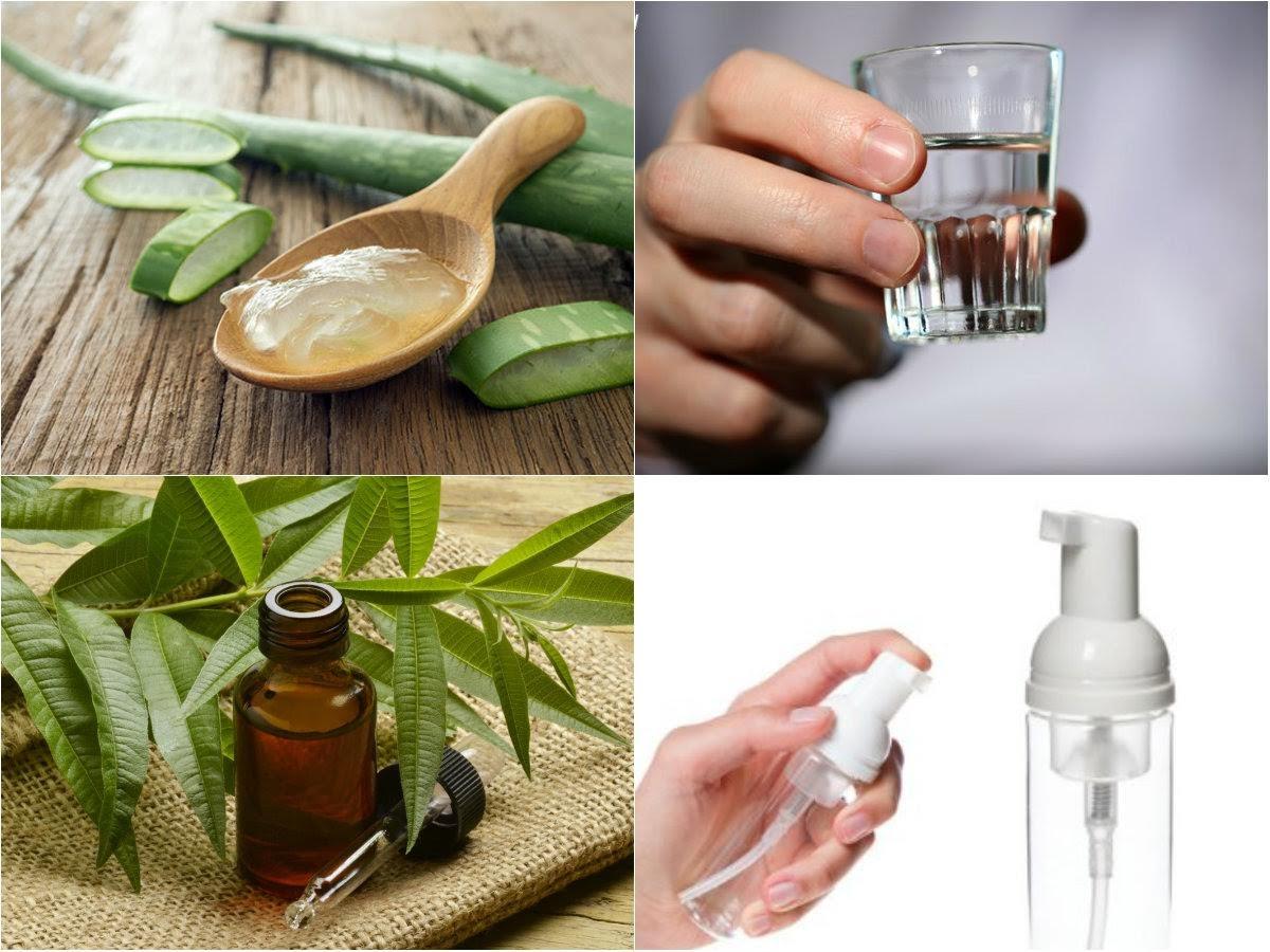 nước rửa tay khô bằng tinh dầu trà tràm