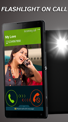 FlashLight on Call SMS Free