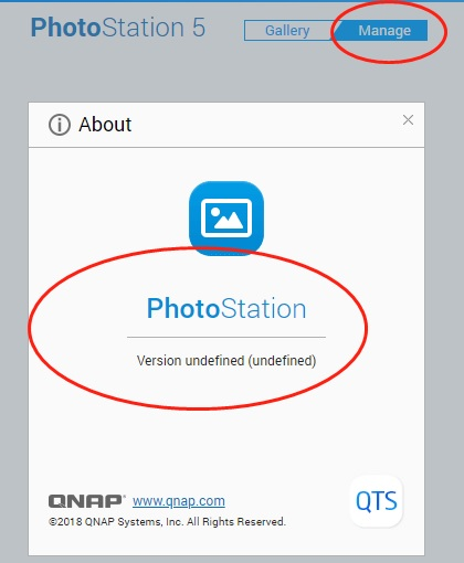 PhotoStation 5 cannot load Manager section - QNAP NAS Community Forum