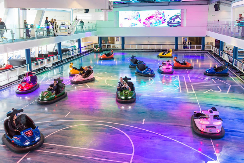 Enjoy bumper cars, basketball and rollerskating with your family or colleagues on  Anthem of the Seas.