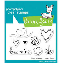Lawn Fawn Clear Stamps 3X2 - Bee Mine