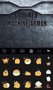 Cool Red Machine Armor Keyboard Theme Apk by Sexy Free Emoji