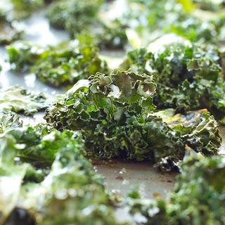 No Fail Sea Salt and Garlic Kale Chips.