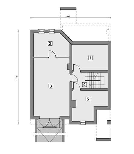 W-1018 Opus - Rzut piwnicy