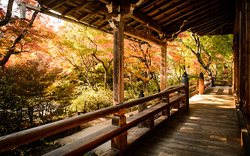"""Photo: This photo appeared in an article on my blog on Nov 23, 2013. この写真は11月23日ブログの記事に載りました。 """"This Season's First Fall-Foliage Outing in Kyoto: Northern Arahiyama"""" http://regex.info/blog/2013-11-23/2342"""