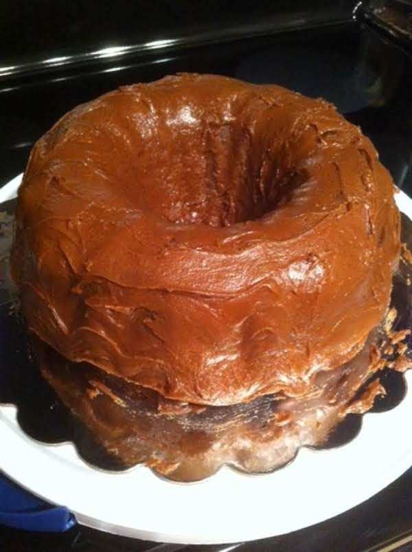 I Used A Bundt Pan For This Cake But The Recipe Actually Calls For A Sheet Cake Pan.  I Like The Bundt Look Better!